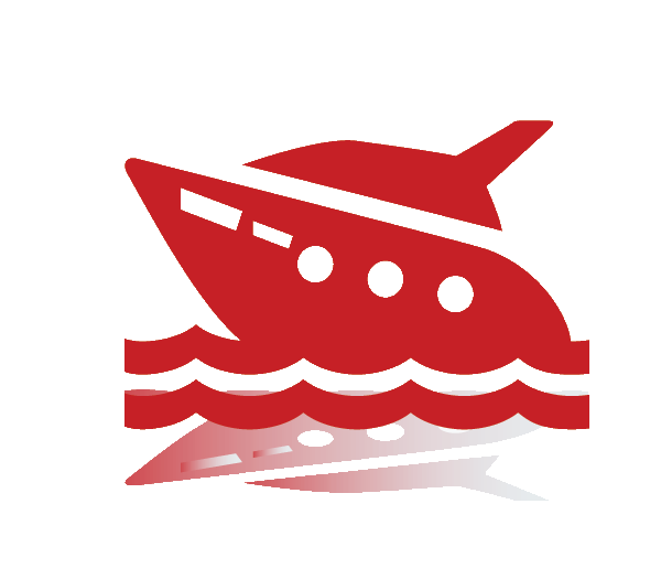 charter fishing boat icon